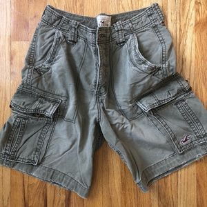 Hollister cargo distressed shorts